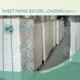 Papier synthétique enduit de la double surface latérale pp pour des étiquettes de catalogue