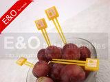 Brochet à fruits en plastique jetables et à fruits