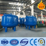 Tanque do filtro de areia do aço de carbono/filtro dos multimédios/filtro de pressão no tratamento da água