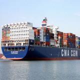 Overzeese Container die van Shenzhen aan Mexico in Dap- Termen verschepen