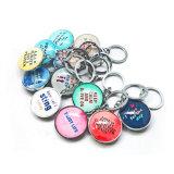 Trousseau de clés promotionnel de souvenir en métal de mode de vente chaude
