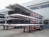 3 Flatbed Semi Aanhangwagen van de as met de Opschorting van de Lente
