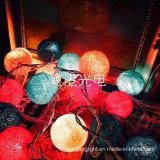Corrente de luzes impermeável com a esfera de algodão de 6cm
