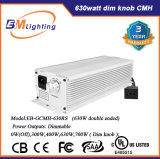 Hydroponic 가벼운 630W CMH /1000W HPS 디지털 전자 밸러스트 두 배에 의하여 끝난 반사체를 증가하십시오