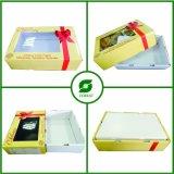 Carton lustré de cerise de papier d'imprimerie avec le guichet transparent