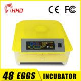Incubatrice automatica dell'uovo dei 48 polli di Hhd mini da vendere