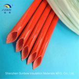 Китайской Sleeving силиконовой резины поставщика Coated заплетенный стеклотканью