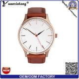 Señora encantadora de encargo del reloj de la venta de la promoción Yxl-058 de señoras del reloj de la manera del cuero de la voga de la alineada del cuarzo caliente del reloj
