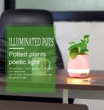 Haut-parleur sec imperméable à l'eau de Bluetooth de Flowerpot de musique du contact DEL