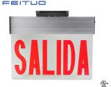 표시, LED 출구, 새로운 Salida 가장자리 Lit 비상구 표시를 나가십시오