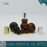 botella de petróleo esencial de cristal Calabaza-Shaped ambarina 10ml con el casquillo de aluminio