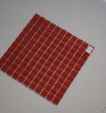 Mattonelle di mosaico domestiche di cristallo del quadrato rosso della decorazione