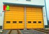 Obturateur à grande vitesse en plastique de rouleau de porte de PVC empilant la porte (Hz-FC022