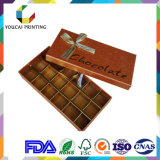 Caixa do chocolate do produto comestível do cartão do preço de fábrica