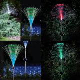 In-Terra cambiante ottica di colore di RGB dell'indicatore luminoso di paesaggio della fibra di energia solare per la decorazione esterna del prato inglese del giardino