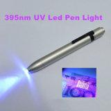 Grampo Penlight UV do detetor do dinheiro do diodo emissor de luz da bateria 395nm Voilet do AAA