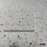 Hojas superficiales sólidas de acrílico de las losas de piedra artificiales negras puras