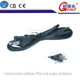 Проводник штепсельной вилки 0.5mm медный CCA американского стандарта 2pins