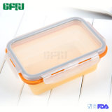 Mittelgrosser zusammenklappbarer Nahrungsmittelgrad-Silikon-Behälter für im Freien und Küche-Gebrauch