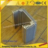 الألومنيوم الموردون 6063 T5 بثق الألمنيوم الحرارة بالوعة