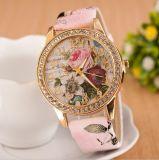 Reloj de señoras de las mujeres de la venta al por mayor del estilo de la manera de la fábrica de China