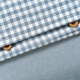 OEMのサテンのコテッジのための青い寝具セット