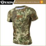 Homme de T-shirt de Rapide-Séchage de camouflage de chemise d'été d'Esdy