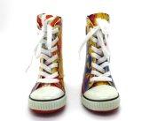 Laarzen van de Regen van de Manier van jonge geitjes rijgen de Rubber omhoog met Kleurendruk