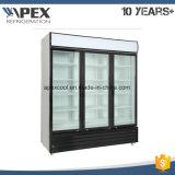 Refrigeradores comerciais do indicador da porta do vidro 3 de 2~10 graus,