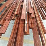 Perfil de alumínio de transferência de madeira da grão para o indicador de alumínio
