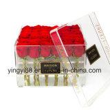 Fabbrica di Shenzhen della casella di /Plastic Rosa del contenitore di fiore dell'acrilico di 100%