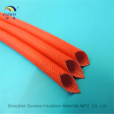 El envolver revestido de la fibra de vidrio de la resina de silicón del tubo de la protección del alambre eléctrico
