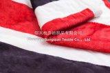 Throw impresso do velo de Sherpa do delicado poliéster 100% super - a bandeira de união