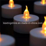 Мягкой свечки чая пламени освещаемый батареей непламенный желтый для украшения венчания