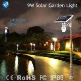Indicatore luminoso esterno alimentato solare del giardino di 6W 9W LED