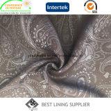 Tecido de revestimento de jacquard tecido poli viscose para roupa de homem