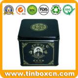 Quadratischer Metalltee-Kasten für Nahrungsmittelzinn-Behälter