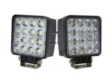9V - 차 트럭 지프 반점을%s 36V 4800lm 48W 사각 일 빛, 플러드 광속 LED 일 빛