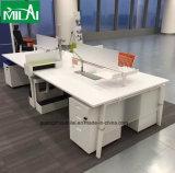 金属の構造のオフィス用家具L形の執行部の机