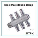 付属品の三重の男性の二重バンジョーMtpk押の金属