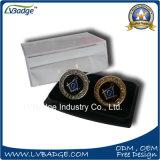 Связь Clip&#160 металла высокого качества; Cufflinks металла в коробке бархата