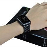 Fascia reale su ordinazione dell'orologio di modo del cuoio della fascia di esercitazione della vigilanza della fibra del carbonio di lusso più calda