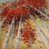 100% 은빛 벌치나무를 위한 Handmade 유화 벽 예술