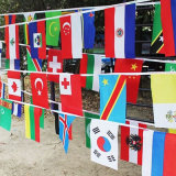 Nuove bandierine della stamina della stringa del paese di colore completo di disegno per la decorazione