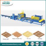 Pálete de madeira da longarina profissional que prega a linha de produção da máquina