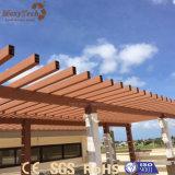 Pérgola moderna al aire libre modificada para requisitos particulares venta caliente del jardín WPC de la talla