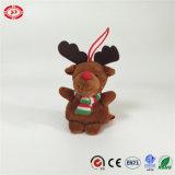 Peluche de cadeau bourrée par orignaux de Joyeux Noël avec le jouet de qualité d'écharpe