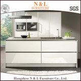 MDFの木の台所家具の光沢度の高いラッカー木製の食器棚