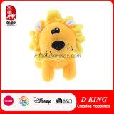 かわいい地位によって詰められる柔らかいプラシ天のライオンの漫画動物のおもちゃ