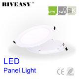 luz nana redonda de la luz del panel de 6W LED LED con la luz del panel aislada Ce del programa piloto